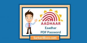 Eaadhar Card PDF Password